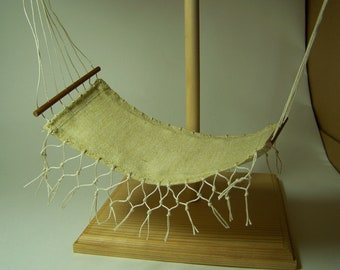 Yellow Cotton Hammock  - 12 scale dollhouse miniature by CWPoppets