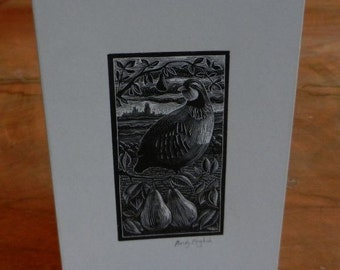 Christmas Card: Partridge In A Pear Tree