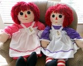 Special Rush Order with Pink Pajamas Personalized - Raggedy Ann Doll - 36 Inches - Custom Orders - Personalization by separate listing