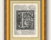 Dictionary Page Letter F 8x10 - Buy 2 get 1 FREE