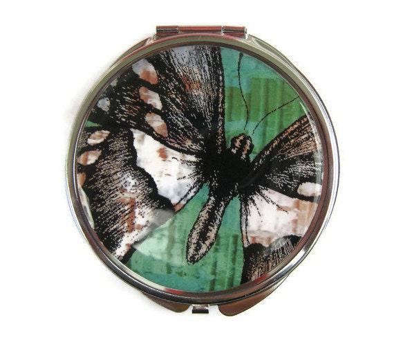 Butterfly Compact Mirror Pocket Mirror Large Gifts for her