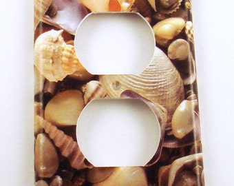 Switchplate  Outlet  Light Switch Cover  in SeaShell (248O)