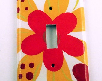 Switchplate   Wall Decor Single Light Switch Cover in Cayenne (254S)