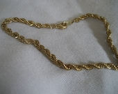 Gold Metal Twist Chain Costume Jewelry Bracelet
