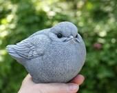 Concrete Bird Statue - Fat Bird Garden Sculpture