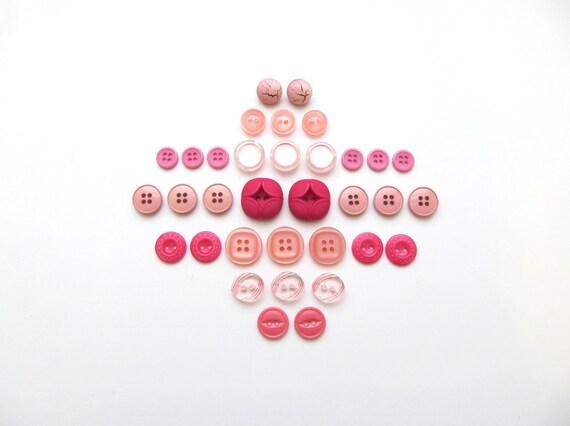 Pink Lemonade Vintage Button Sets