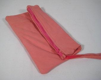 Super Soft leather zippered bag Pink