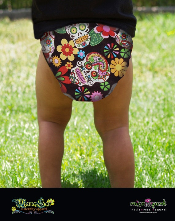 3 PACK of Punk Baby and Toddler Diaper covers by Miso Punk - baby shower gift