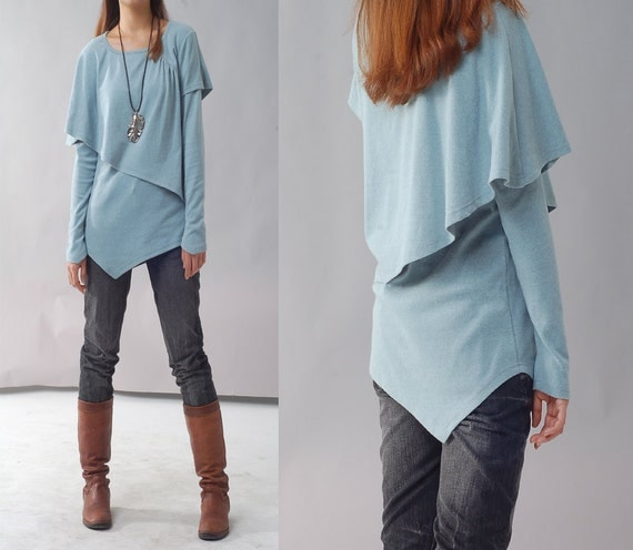 Leaves 3  - asymmetrical layered top (Y1217)