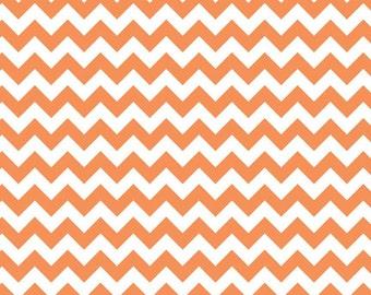 Riley Blake Designs, Small Chevron in Orange C340 60)