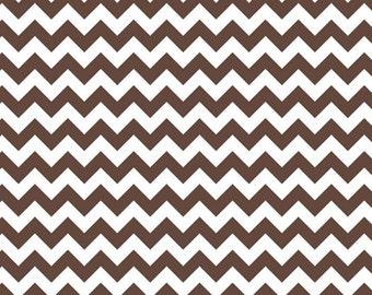 Riley Blake Designs, Small Chevron in Brown (C340 90)