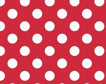 Riley Blake Designs, Medium Dots in Red (C360 80)