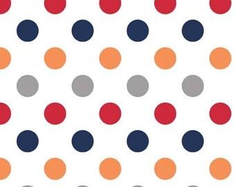 Riley Blake Designs, Medium Dots Boy (C360 02)