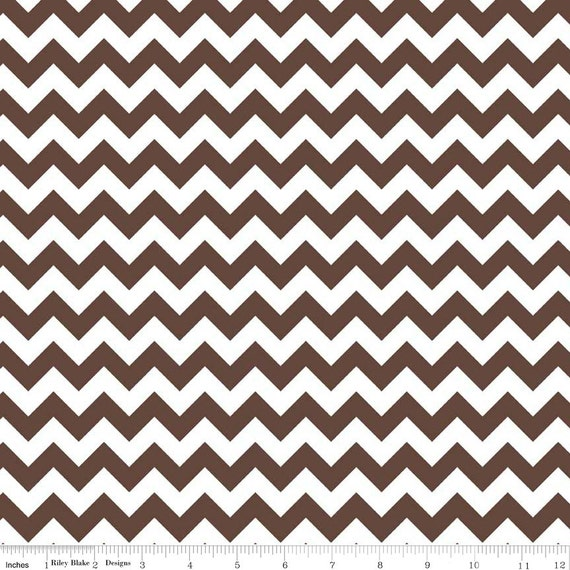 Riley Blake Designs, Small Chevron in Brown (C340 90) - cut options available