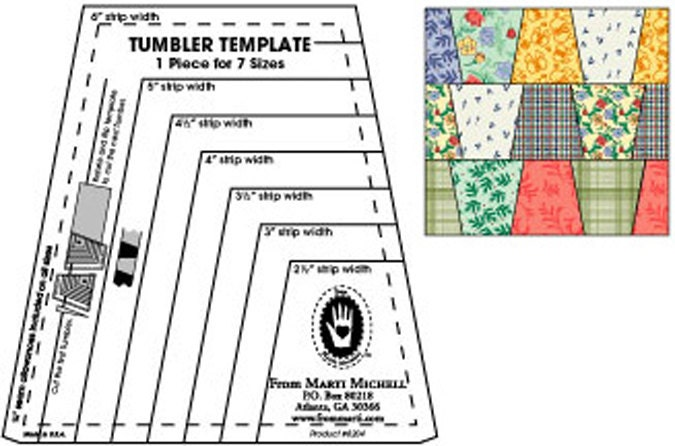 Tumbler Template Ruler From Marti Michell 8204