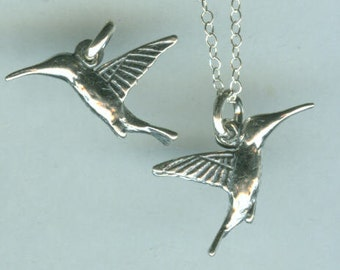 Sterling HUMMINGBIRD Pendant and Chain - 3D, Totem