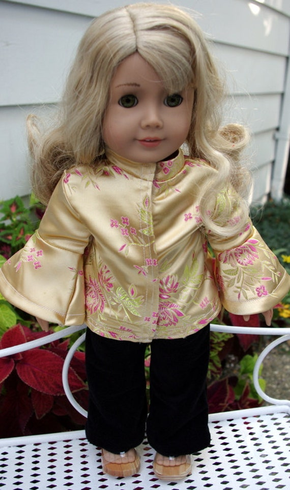 Asian outfit for 18 inch doll, includes shoes