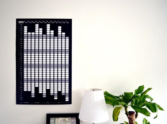2013 Calendar Poster Print - Black