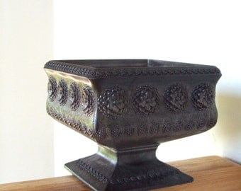 Vintage Regaline Planter square brown pedestal