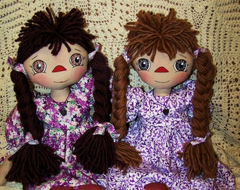 New Primitive Anya     Folk Art Doll Pattern PDF Download  ET