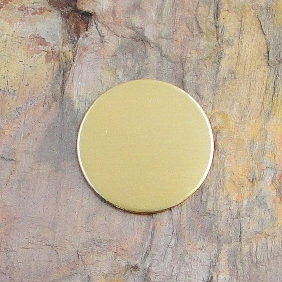 """10 Deburred 18G Brass 3/4"""" inch Stamping Blanks Discs"""
