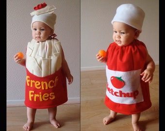 Twin Set  Kids Costumes Halloween Costumes French Fries and Ketchup Bottle
