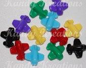 SALE 100 Airplane Plane Shaped Pony Beads for Kandi Raver Kandy Dummy Clips Kid Craft bubblegum Neckalce bird toy part scout party favors