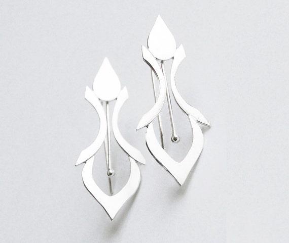 Silver Fleur De Lys Earrings