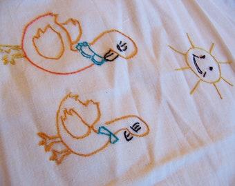 two ducks under the sun kitchen towel