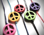 NEW - Howlite Peace Out bracelet(s)