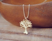 yeahhello. gold fall white tree necklace