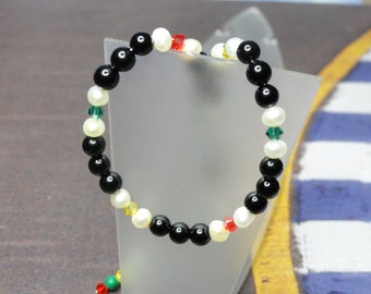 Race Day Bracelet Onyx and Pearl