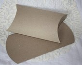 CLEARANCE Kraft Pillow Boxes Extra Large Size - Set of 6
