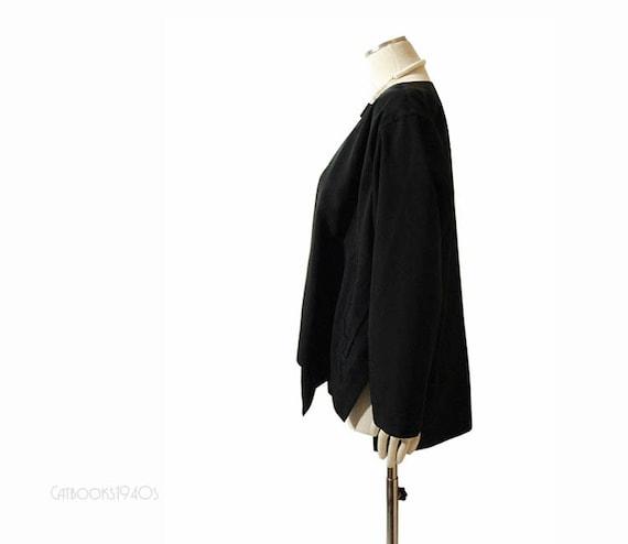 Vintage Issey Miyake Jacket - Plantation Black VERY Avant Garde Jacket