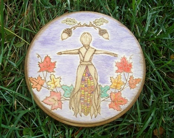 Made to Order Corn Mother Mabon Altar Tile