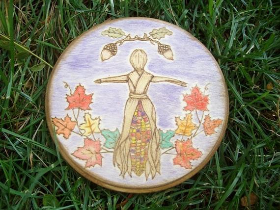 Made to Order Corn Mother Mabon Altar Tile