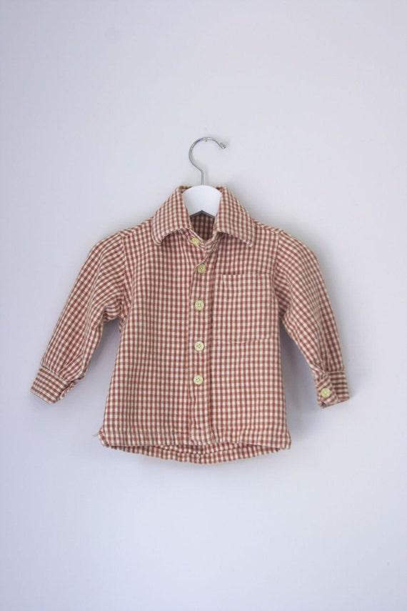 Vintage handmade button down shirt 12 to 18 months