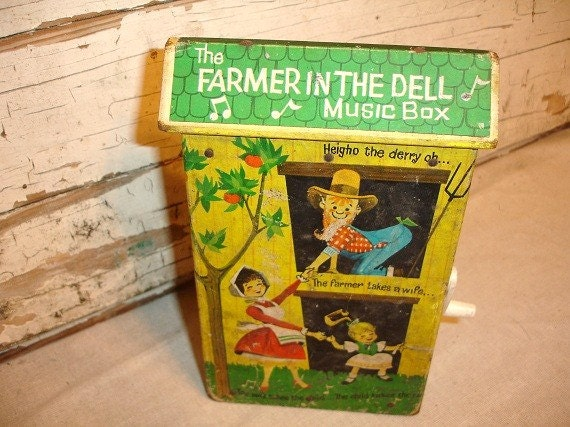 Vintage Fisher Price Farmer in the Dell Music Box