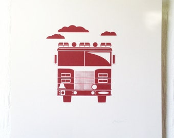 Fire Truck Screen Print