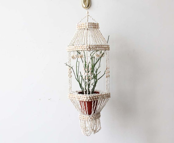 Boho Tiered Shell Plant Hanger