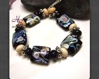 PSC018 necklace, necklaces, Unique, Lampwork