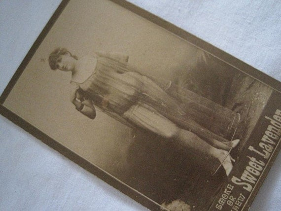 Antique Tobacco Trading Card - 1800s Naughty Risque
