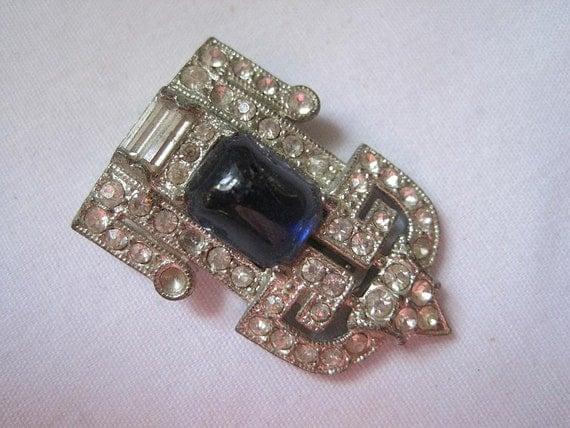 Vintage Art Deco Dress Clip
