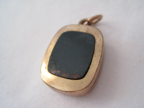 Antique Victorian Watch Fob - Bloodstone and Carnelian