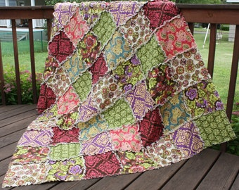 Throw Rag Quilt - You Pick The Fabric