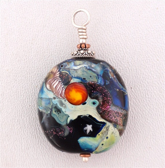 Lamp Work Deep Space Bead from my Private Keepers. By Kate Drew-Wilkinson