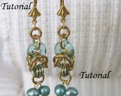 Tutorial - Intermediate - Pearl Byzantian Chainmaille Earrings - NA-545ET