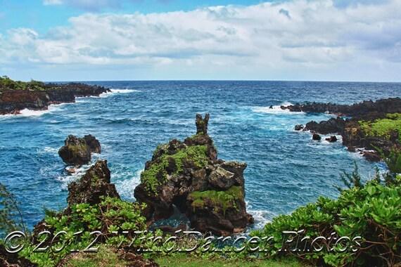Wainapanapa - Road to Hana - Maui - Hawaii - Hawaii Photo - Tropical - Ocean - Home Decor - Hawaii Souvenir - Hawaii Gift
