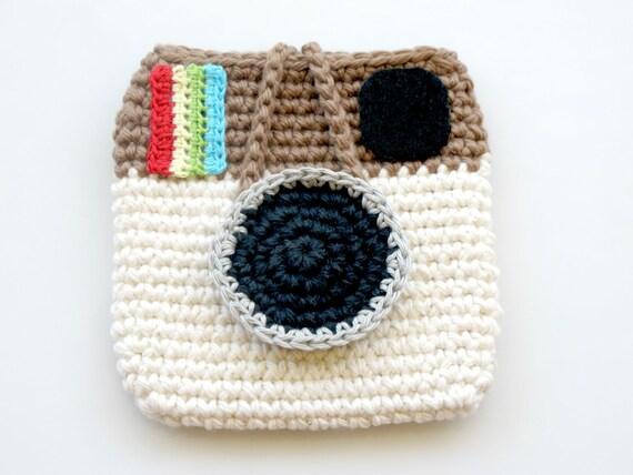 Crocheted Instagram Mini Pouch. Bag. Purse.