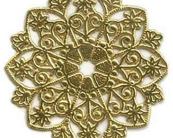 Dresden Trim Gold Medallions Halos Paper Germany 4 Die Cuts Christmas